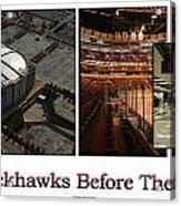 Chicago Blackhawks Before The Gates Open Interior 2 Panel White 02 Acrylic Print