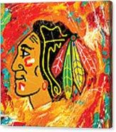 Chicago Blackhawks logo Acrylic Print
