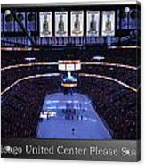 Chicago Blackhawks Please Stand Up With White Text Sb Acrylic Print