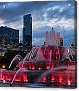 Chicago Blackhawks Skyline Acrylic Print by Jeff Lewis