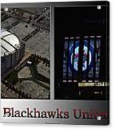 Chicago Blackhawks United Center 2 Panel Sb Acrylic Print
