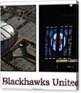 Chicago Blackhawks United Center 2 Panel White Signage Acrylic Print