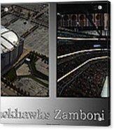 Chicago Blackhawks Zamboni Break Time 2 Panel Sb Acrylic Print