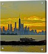 Chicago Breakwater Acrylic Print