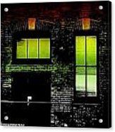 Chicago Brick Facade Glow Acrylic Print