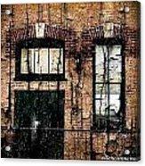 Chicago Brick Facade Grunge Acrylic Print