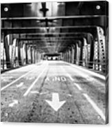 Chicago Wells Street Bridge Picture Acrylic Print