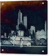 Chicago Buckingham Fountain Northside Textured Acrylic Print