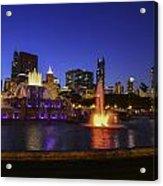 Chicago Buckingham Fountain Acrylic Print