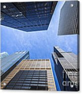 Chicago Buildings Upward View With Willis-sears Tower Acrylic Print by Paul Velgos
