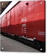 Chicago Burlington Quincy Freight Cars Acrylic Print
