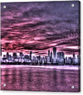 Chicago By Night Acrylic Print