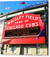 Chicago Cubs Marquee Sign Acrylic Print