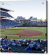 Chicago Cubs Pregame Time Panorama Acrylic Print