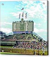 Chicago Cubs Scoreboard 01 Acrylic Print