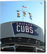 Chicago Cubs Signage Acrylic Print