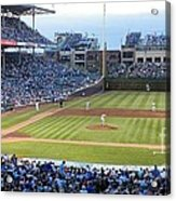 Chicago Cubs Up To Bat Acrylic Print