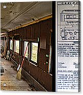 Chicago Eastern Il Rr Business Car Restoration With Blue Print Acrylic Print