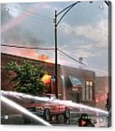 Chicago Firemen At Work Acrylic Print