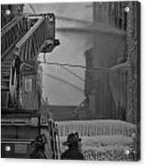 Chicago Firemen Looking On Acrylic Print