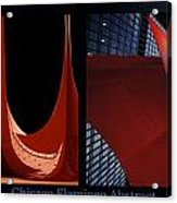 Chicago Flamingo Abstract 01 2 Panel Acrylic Print