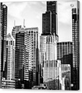 Chicago High Resolution Picture In Black And White Acrylic Print by Paul Velgos