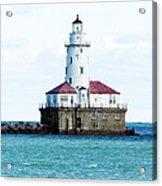 Chicago Illinois Harbor Lighthouse Close Up Usa Acrylic Print