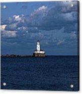Chicago Illinois Harbor Lighthouse Early Evening Usa Acrylic Print