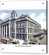 Chicago Illinois - Northwestern Railroad Station - 1927 Acrylic Print