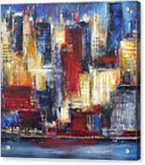 Chicago In The Evening Acrylic Print
