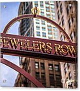 Chicago Jewelers Row Sign  Acrylic Print