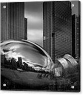 Cloud Gate Aka Bean In Black And White Acrylic Print
