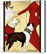 Chicago Kennel Club's Dog Show - Advertising Poster - 1902 Acrylic Print