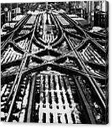 Chicago 'l' Tracks Winter Acrylic Print