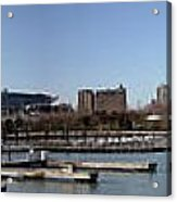Chicago Lakefront - Soldier Field To Willis Tower Acrylic Print by David Bearden