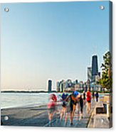 Chicago Lakefront Panorama Acrylic Print by Steve Gadomski