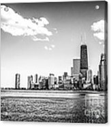 Chicago Lakefront Skyline Black And White Picture Acrylic Print