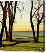 Chicago Lakefront Trail And Lincoln Acrylic Print