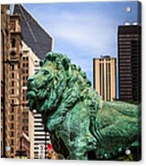 Chicago Lion Statues At The Art Institute Acrylic Print