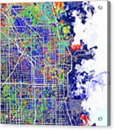 Chicago Map Color Splash Acrylic Print