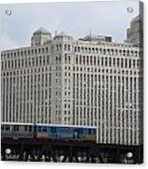 Chicago Merchandise Mart And Cta El Train Acrylic Print