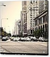 Chicago Michigan Ave Field Museum Art Institute Triptych 3 Panel Acrylic Print