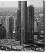 Chicago Modern Skyscraper Black And White Acrylic Print