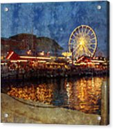 Chicago Navy Pier At Night Acrylic Print