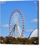Chicago Navy Pier Ferris Wheel Acrylic Print by Christine Till