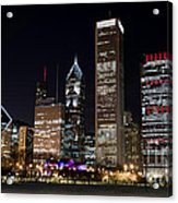 Chicago Night Skyline Acrylic Print