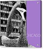 Chicago Pablo Picasso - Violet Acrylic Print