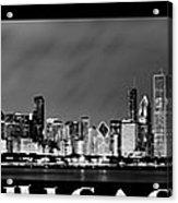 Chicago Panorama At Night Acrylic Print