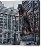 Chicago Picasso Acrylic Print by Mike Burgquist