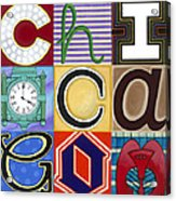 Chicago Picasso Squares Acrylic Print by Carla Bank